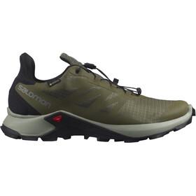 Salomon Supercross 3 GTX Shoes Men olive night/wrought iron/black